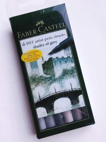 Faber-Castell Pitt Brush Pen, Set of 6