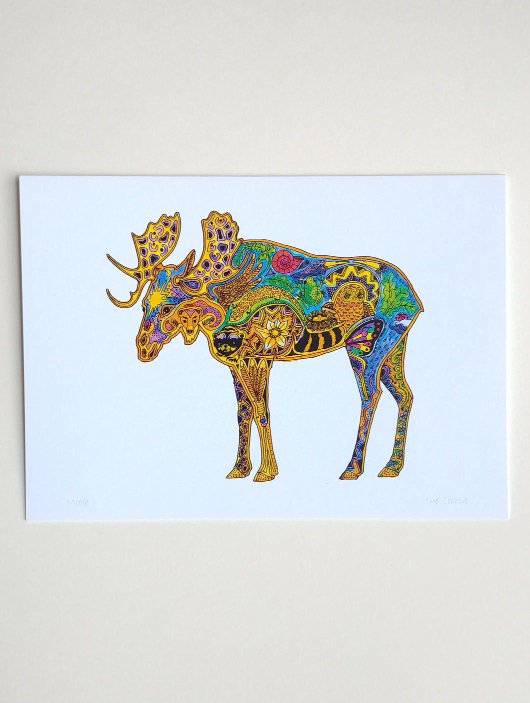 Indigenous Artist Blank Greeting Card- Moose