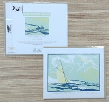 Load image into Gallery viewer, Colin Moore- Linocut: Bristol Channel Pilot Cutter    CM1418