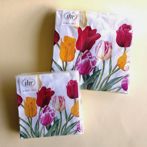 Tulips White Napkins. C/L 856190