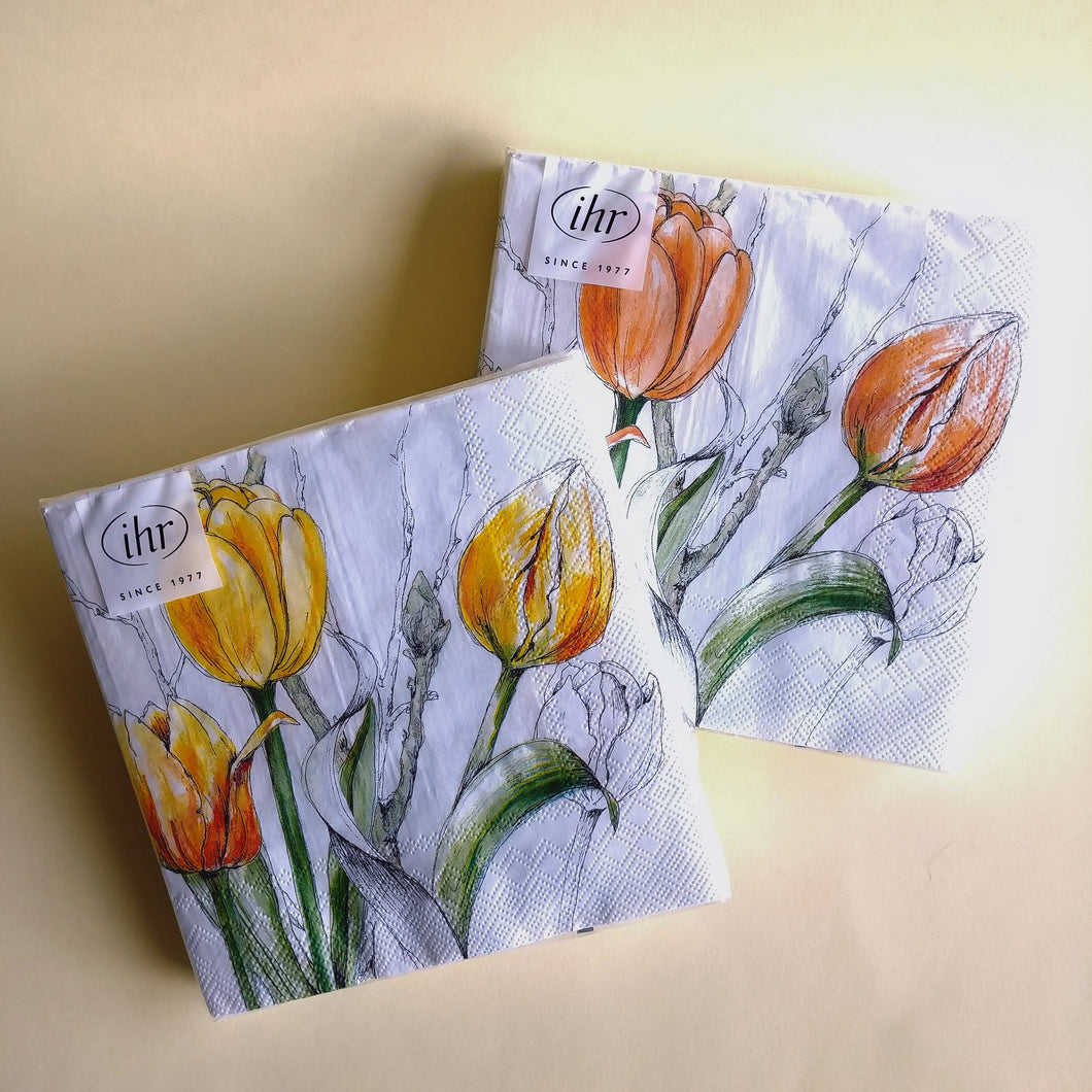 Colourful Tulips Luncheon Napkins