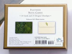 Feathers Note Cards.  #9051