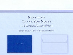 Navy Blue Thank You Notes    #6622