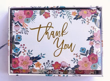Load image into Gallery viewer, Floral Frame Thank You Note Cards