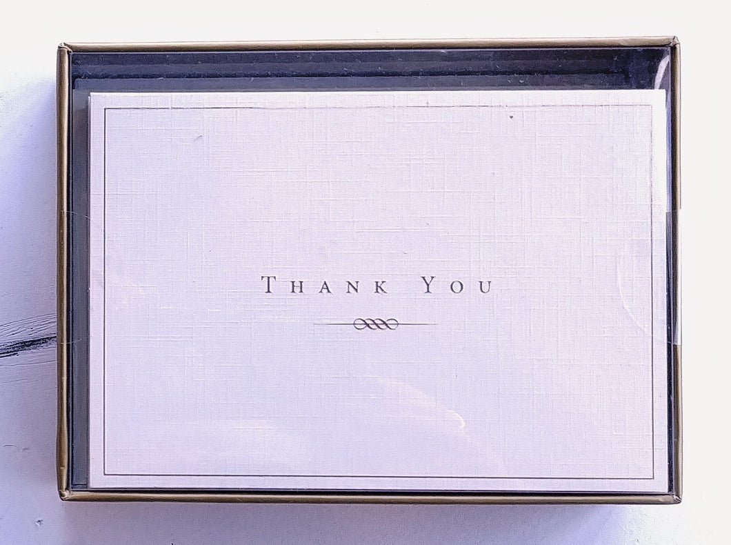 Gold and Cream Thank You Notes   #1071