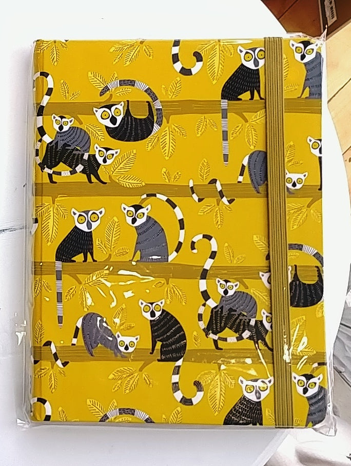 Lemur Palooza Lined Journal