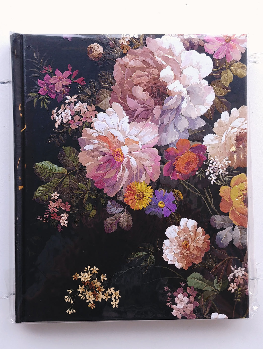 Midnight Floral Lined Journal