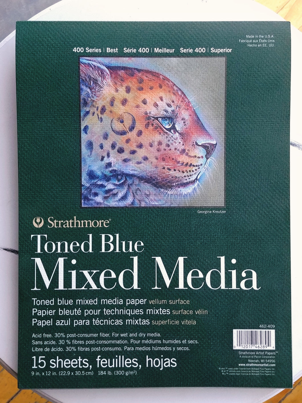 Toned Blue Mixed Media Paper Pad  #462-409