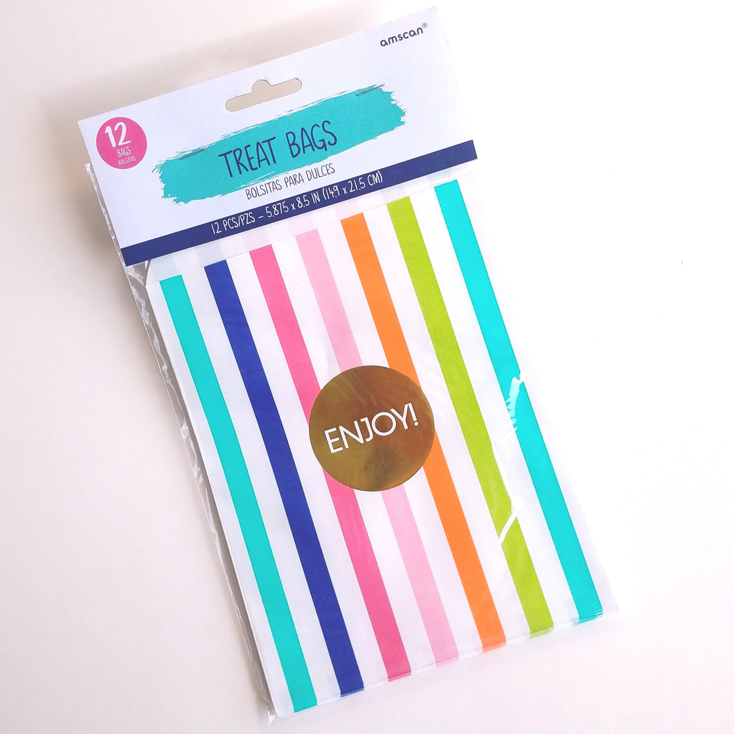 Stripes Paper Treat Bags
