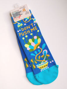 Women's Ankle Socks: Don't Push Me  SW639