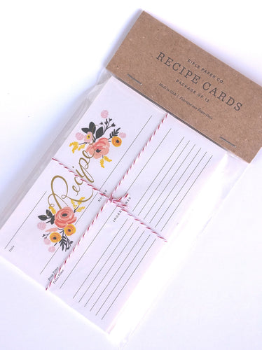 Rifle Floral Peony Recipe Cards