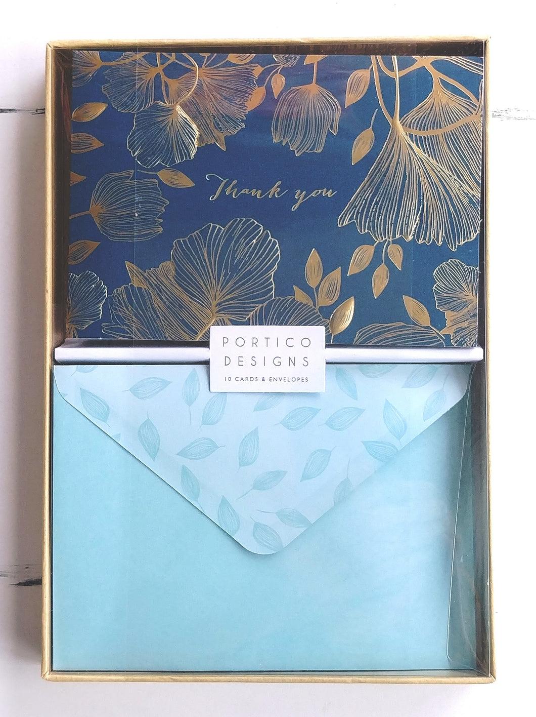 Portico Deluxe Boxed Thank You Notes- Summer Leaves   GTNC1802