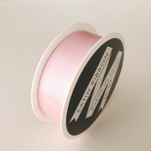 Satin Ribbon- 25mm- 10 yds- Light Pink