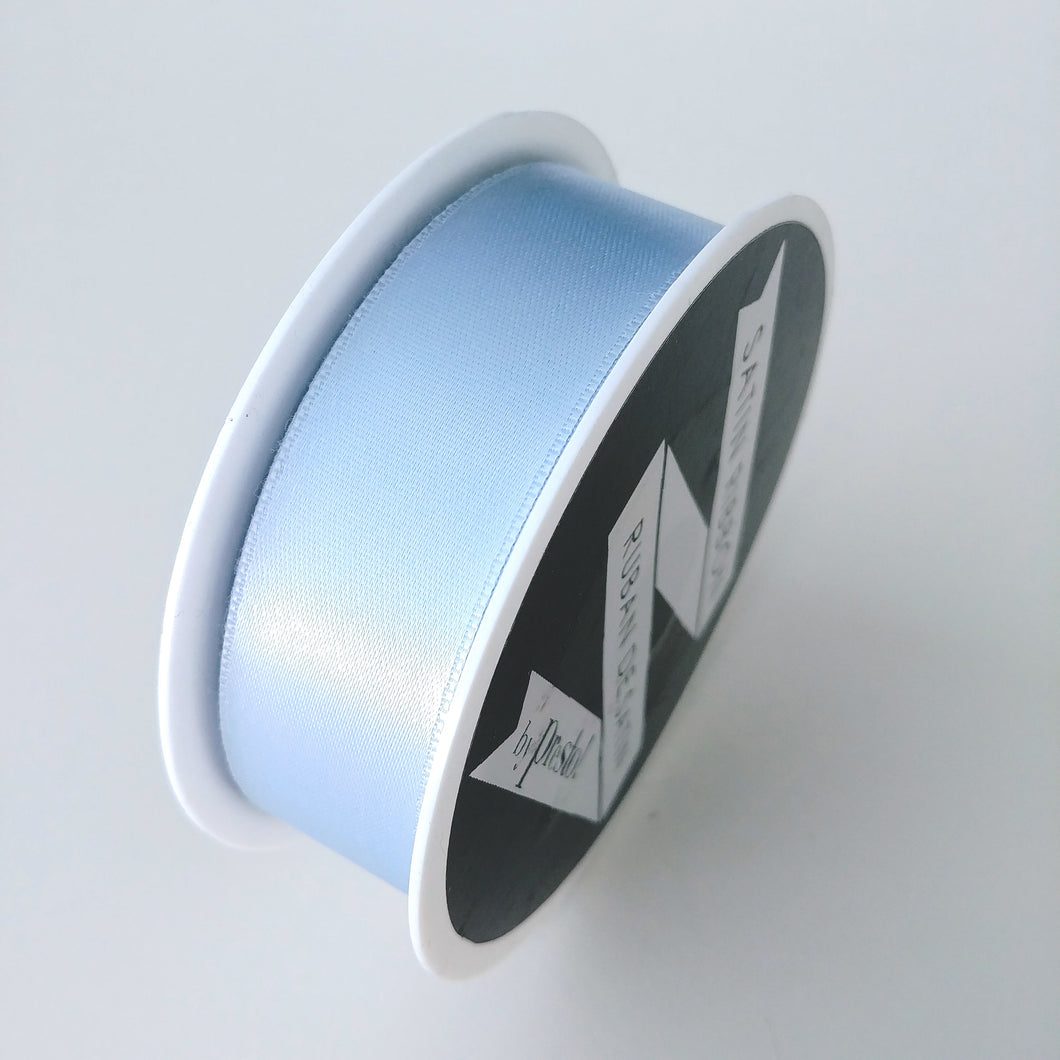 Satin Ribbon- 25mm- 10 yds- Light Blue
