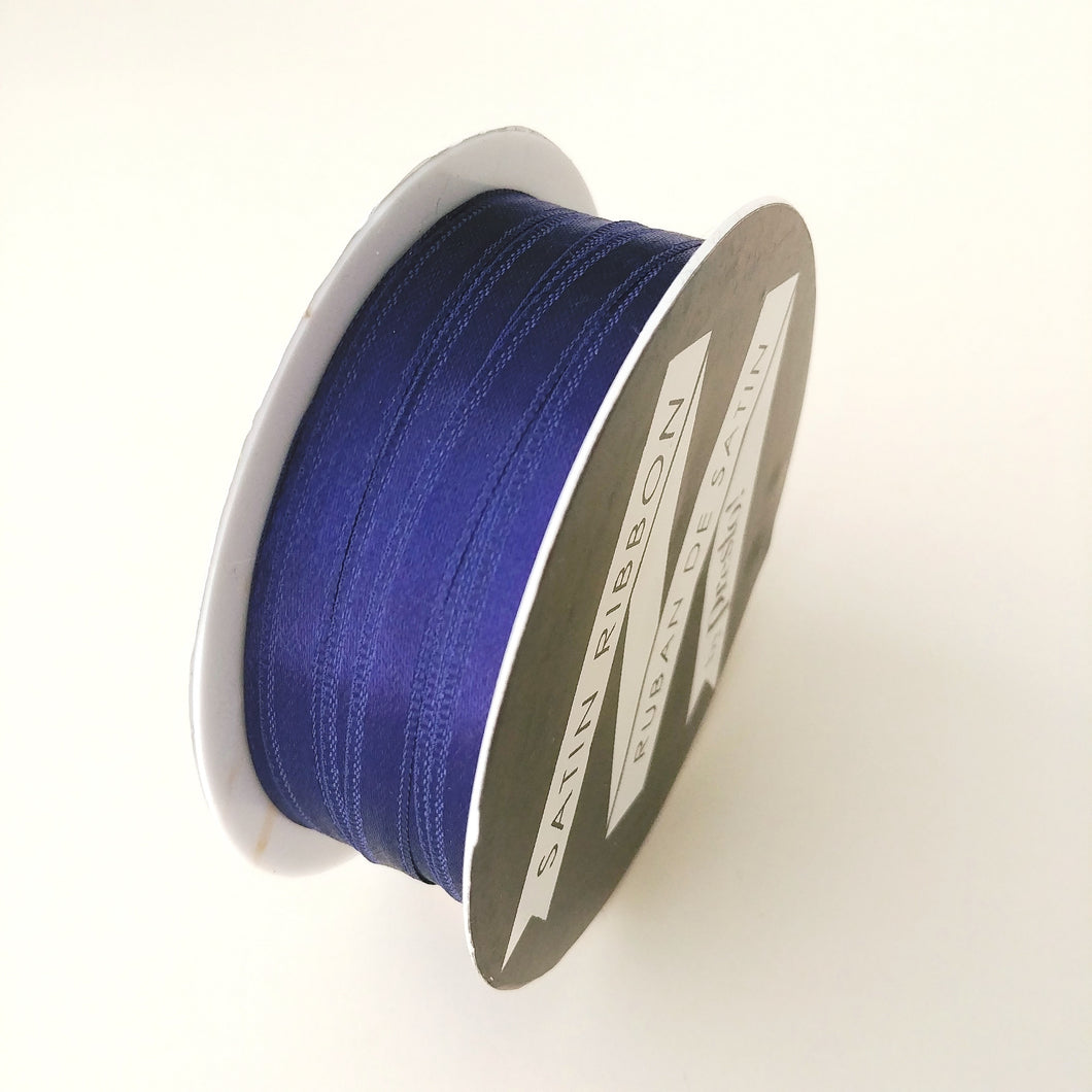 Satin Ribbon- 6mm- 10 yds- Navy Blue