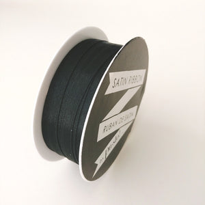 Satin Ribbon- 6mm- 10 yds- Black