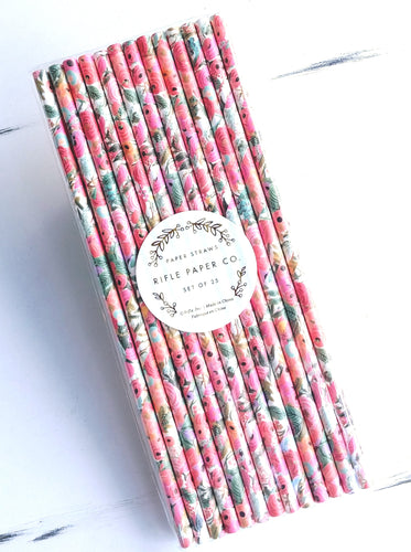 Rifle Paper Straws- Garden Party