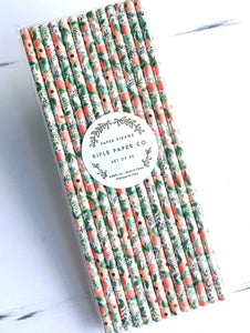 Rifle Paper Straws- Wildflowers   PSB002