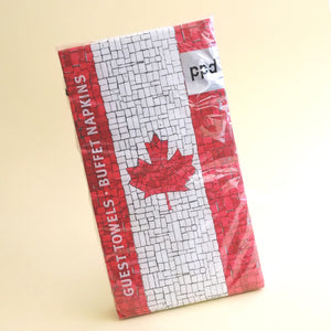 Canadian Flag Mosaic Guest Towels   #1411073