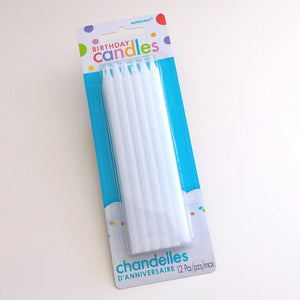 Tall Birthday Candles- White