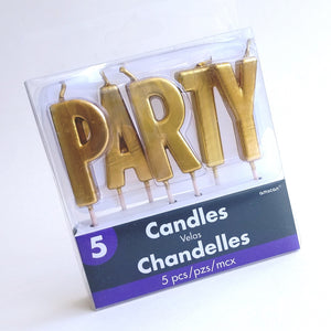 Gold Party Cake Candles