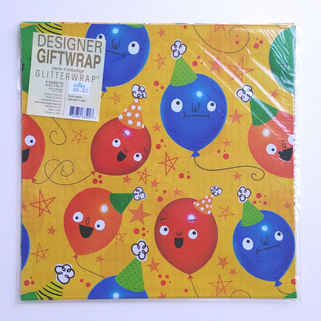 Wrapping Paper- Balloons With Faces