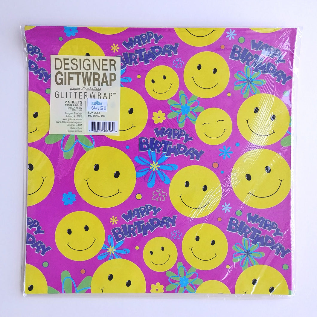 Wrapping Paper- Birthday Smileys