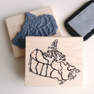 Map of Canada Rubber Stamp   #40272-O