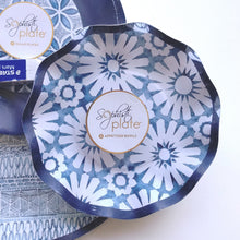 Load image into Gallery viewer, Navy Blue & White Paper Plates/Bowls