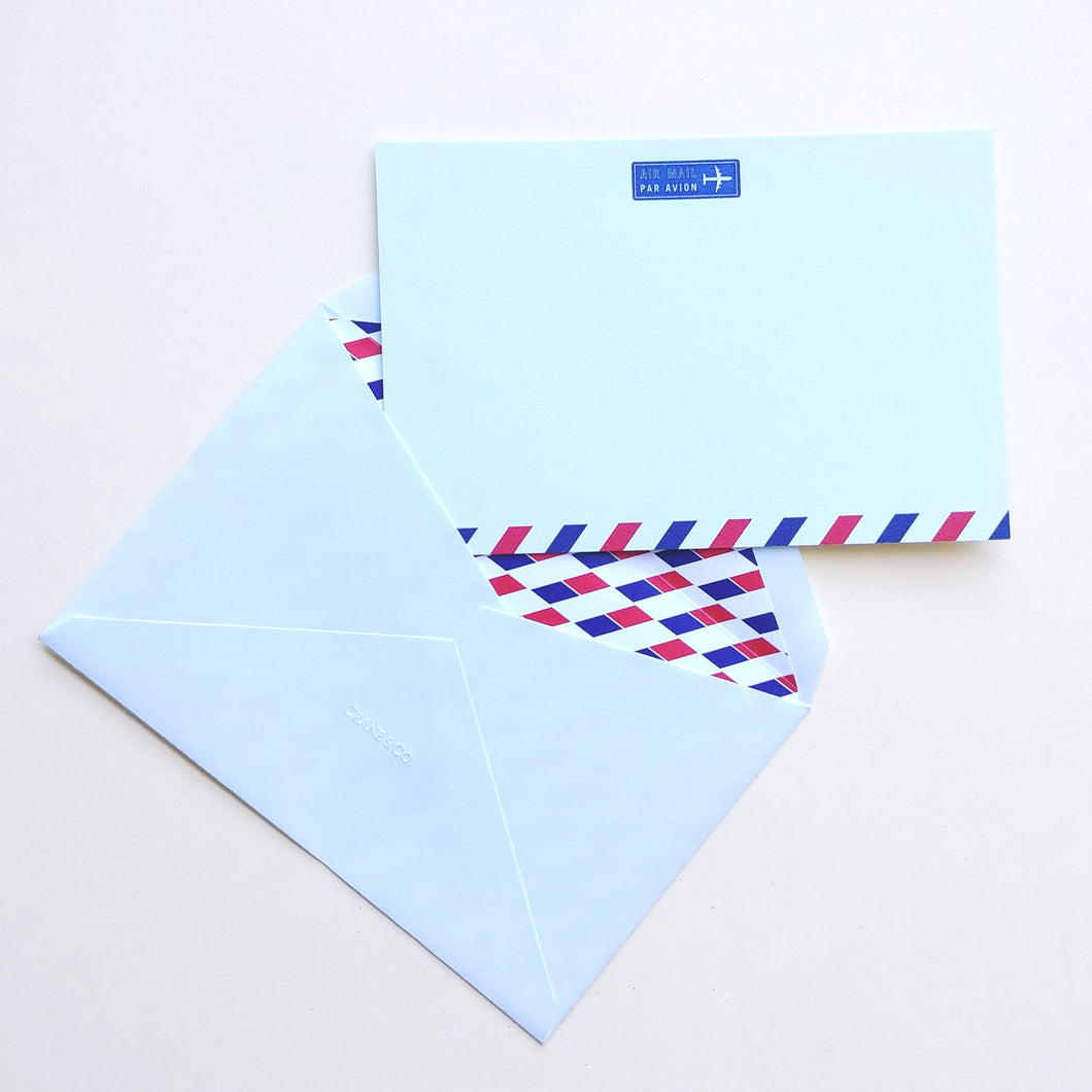 Crane Correspondence Card- Air Mail/Par Avion