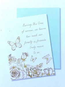Condolence Thank You Notes- Gold Butterfly    #CST-18880