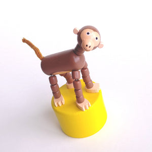 Monkey Push Puppet- Brown