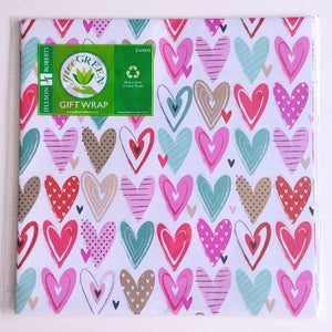 Wrapping Paper- Pretty Hearts