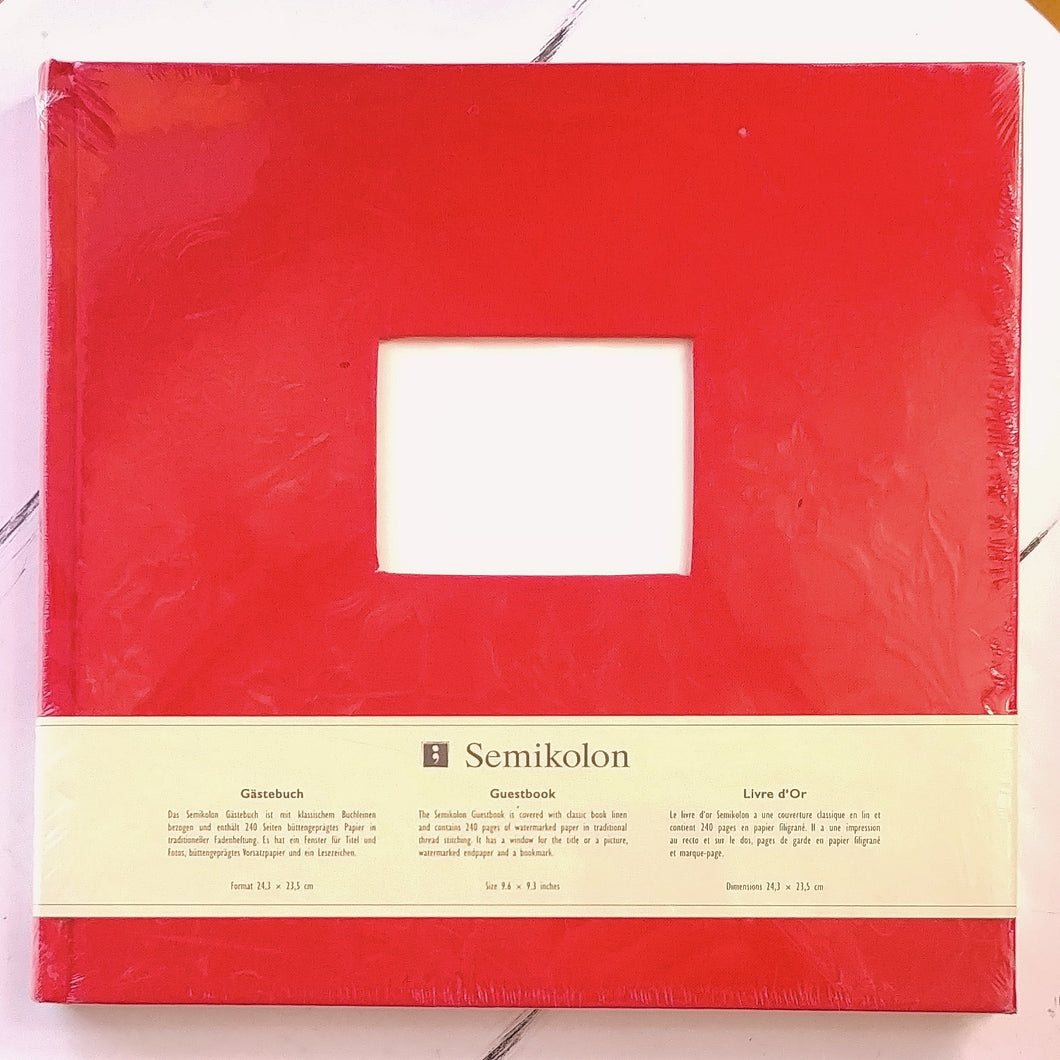 Semikolon Fabric Guest Book- Red