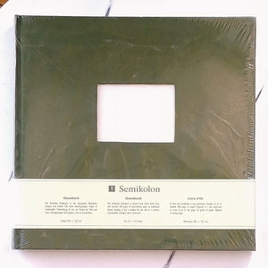 Semikolon Fabric Guest Book- Irish Green   #353532