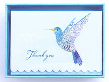 Load image into Gallery viewer, Watercolour Hummingbird Thank You Notes    #3149
