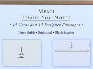 'Merci' Eiffel Tower Thank You Notes   #139X