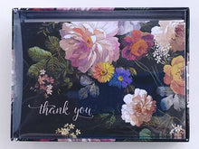 Load image into Gallery viewer, Midnight Floral Thank You Notes    #2425