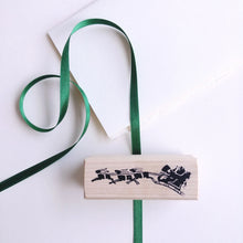 Load image into Gallery viewer, Santa Sleigh Silhouette Rubber Stamp