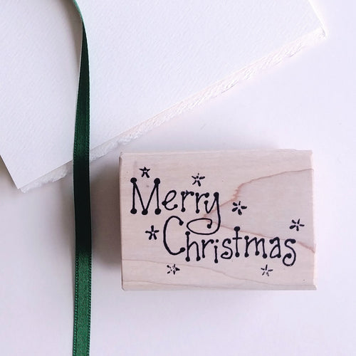 'Merry Christmas' Rubber Stamp