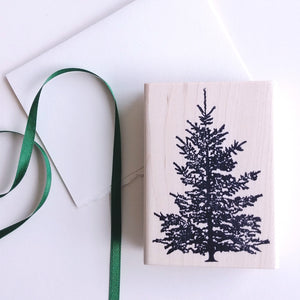 Evergreen Large Rubber Stamp