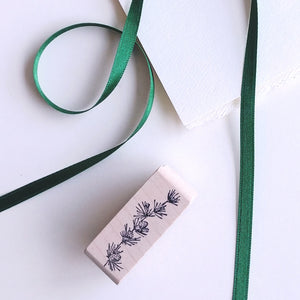 Pinecone Sprig Tiny Rubber Stamp