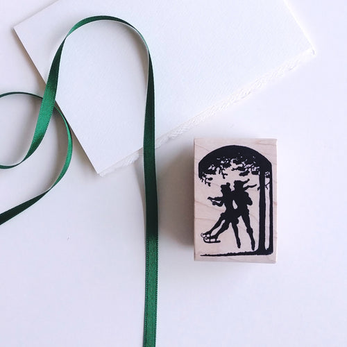 Skaters Silhouette Rubber Stamp   #17004E