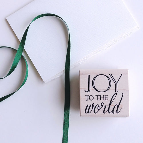 'Joy To The World' Rubber Stamp