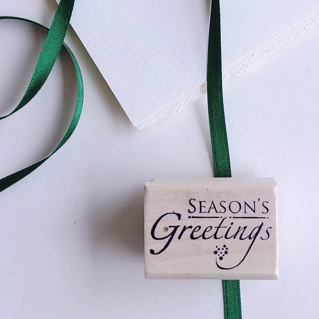 'Season's Greetings' Rubber Stamp