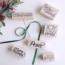 Load image into Gallery viewer, 'Season's Greetings' Rubber Stamp