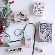 Load image into Gallery viewer, Victorian Santa Large Rubber Stamp   #02300-M