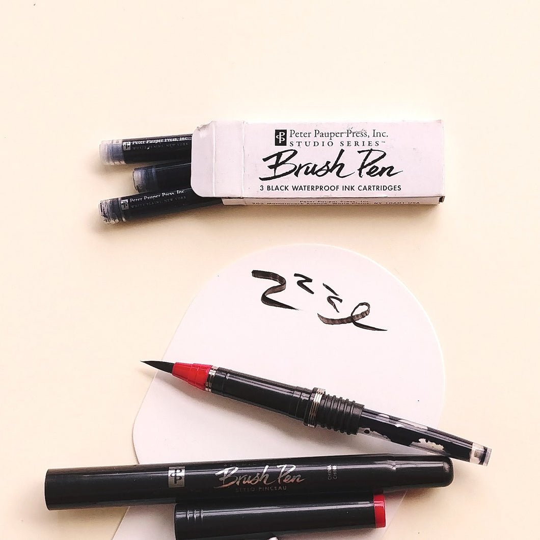 Refillable Brush Pen Cartridges- box of 3.  #7833