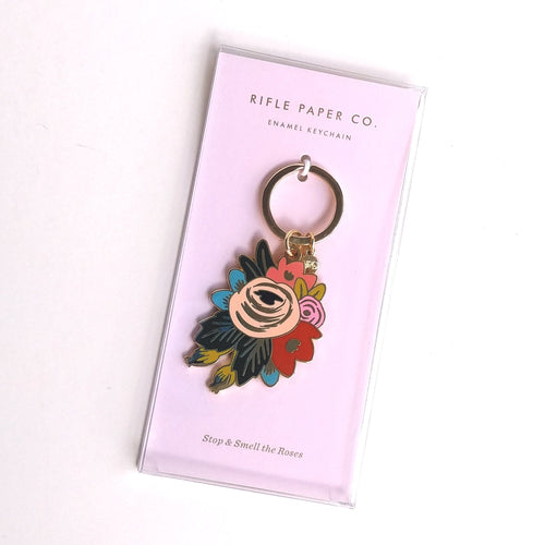 Rifle Keyring- Stop and Smell the Roses  EKM005