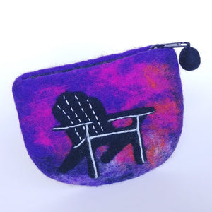 Fair Trade Felted Wool Purse- Adirondack Chair  VCLP-3